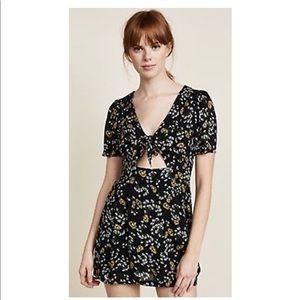 Free People Jinx Floral Sunflower Romper Dress NWT